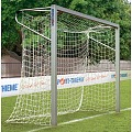 Sport-Thieme® small aluminium goal, 3x2 m, square tubing, free-standing or mounts in ground sockets