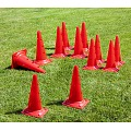 Marking Cones with Holes Set, 50 cm tall